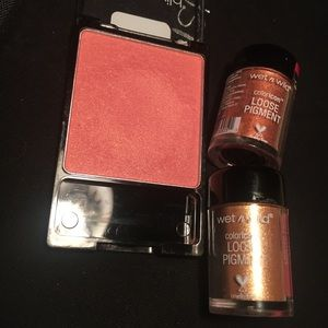 Wet N Wild Pearlescent Pink blush & loose pigments